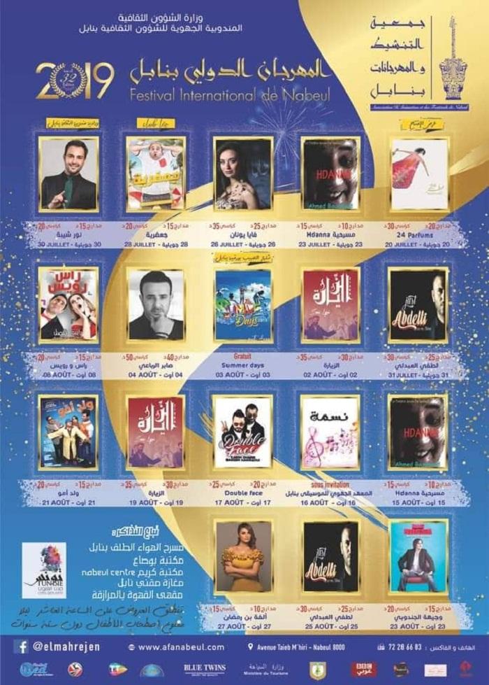 Programme du Festival International de Nabeul