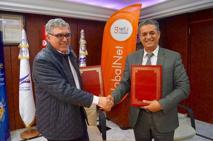 La Poste Tunisienne et GlobalNet Signent une convention de partenariat pour faciliter l'accès aux services Internet